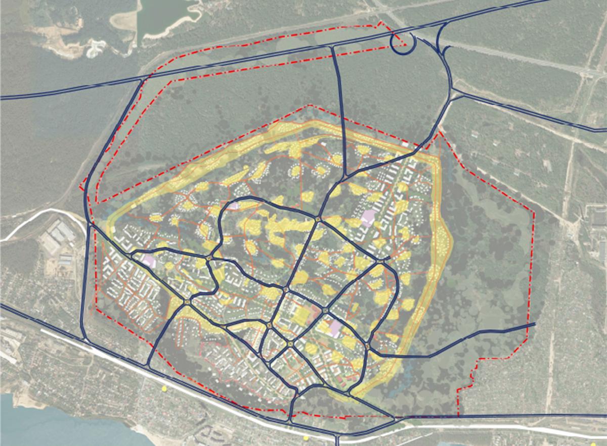 Основной транспортный каркас территории
