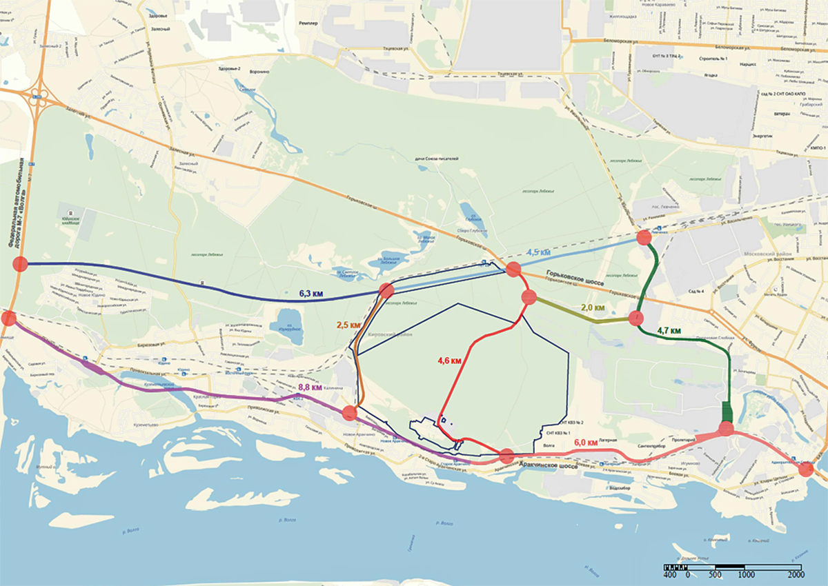 Основные планируемые дороги