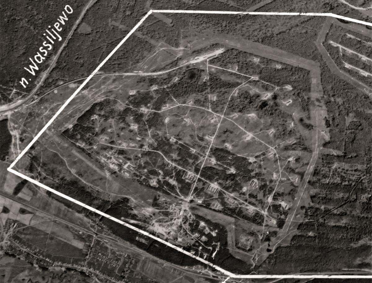 Немецкая аэрофотосъёмка участка 1942 года