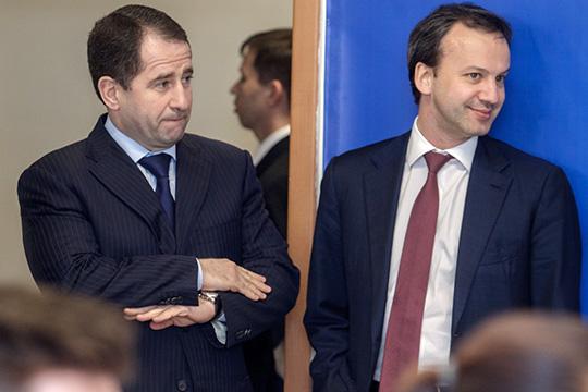 Бывший полпред президента вПФОМихаил Бабич(слева) был назначен надолжность замминистра экономразвития