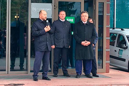 Ильшат Аминов (справа) заявил, что рад новому шефу РА «Татмедиа». Тем более «Айдар Саитгараевич не новичок в отрасли»