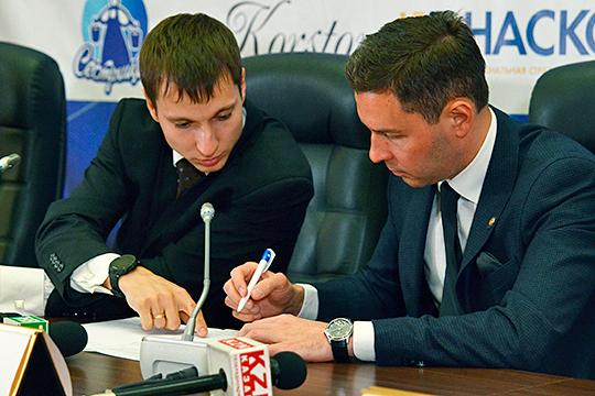 Вадим Янгиров (слева):«Есть выход на реку. Зимой можно проводить марафонские дистанции. Старт и финиш на базе, трасса уходит в реку. Это удобно и гораздо лучше, чем крутить круги»