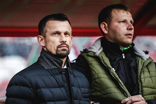 «Когда он [Сергей Семак - слева] работал в «Уфе», мы разговаривали про футбол немного больше. Я тогда только начинал, он работал — мы были на связи чуть больше»