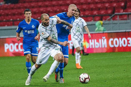 Команда Курбана Бердыева под проливным дождём ввязком ижестком матче сминимальным счетом обыграла московское «Динамо»