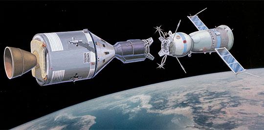 Вуспехе первой международной космической экспедиции«Союз-Аполлон»есть изначительная доля коллектива завода «Элекон»