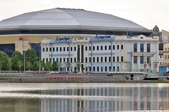 Головной офис Спурт Банкав самом сердце города рядом с озером Кабан, парком Тысячелетия Казани и «Баскет-холлом» оценен в 270 млн рублей
