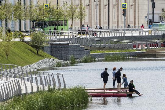 Проектная группа предложила организовать вдоль озерной сетки Кабана масштабный городской парк