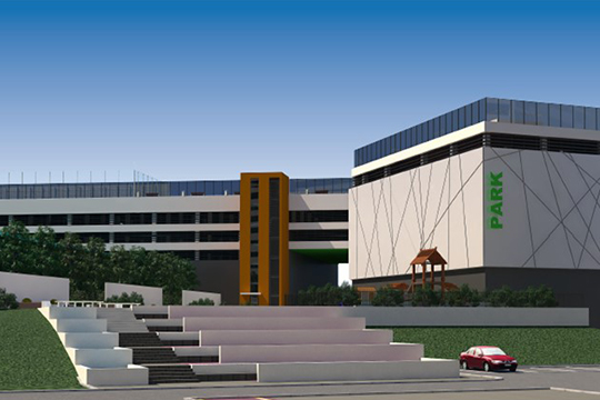 Вэлитном жилом комплексе Sunrise City турецкий застройщик планирует строить 7-этажный паркинг площадью 32500 квм. Там будет 928 парковочных мест, ноихцена еще неопределена (на фото эскиз)