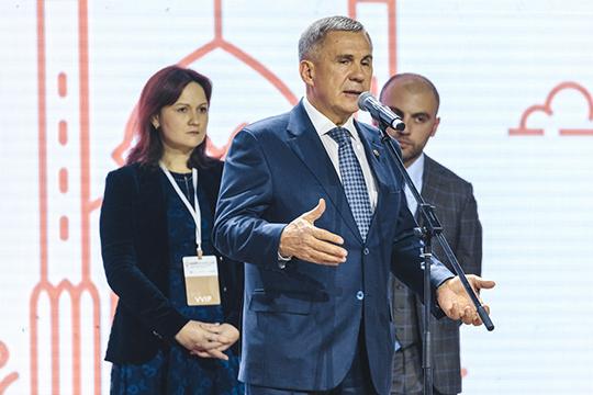 «Несекрет, что бюрократические препоны вовзаимоотношениях власти ипредпринимателей существуют, ноунас существуют меры вчасти упрощения отношений. Это новая система ФАСТТРЕК»,— заявил Рустам Минниханов