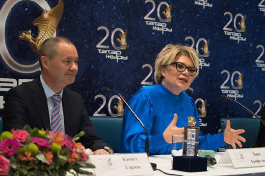 Камиль Гараев — председатель совета директоров «Барс-Медиа» и известный режиссер и продюсер Лина Арифулина