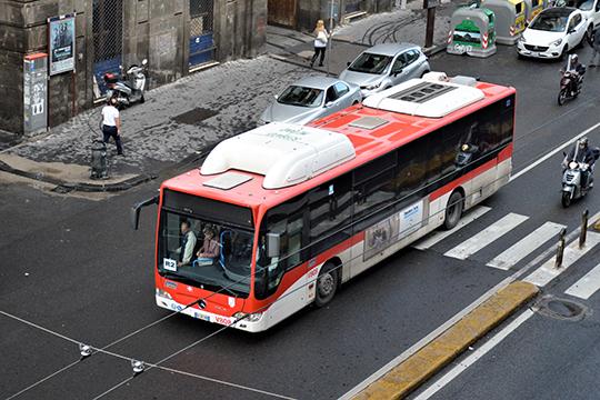 Автобус – основной вид городского транспорта в Неаполе